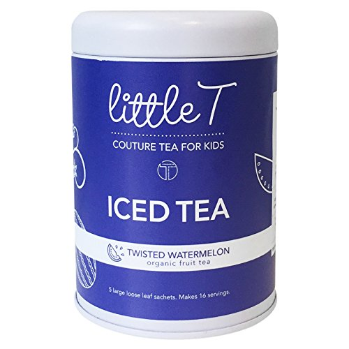 LITTLE T Twisted Watermelon Organic Fruit Iced Tea for Kids. Sugar-free, Caffeine-free, Antioxidant-rich Herbal Iced Tea Sachets (Iced Tea Tin [makes 16 servings]) by LITTLE T