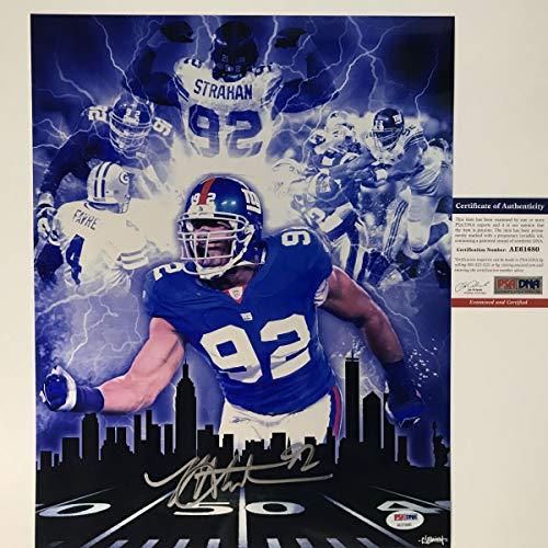 Autographed/Signed Michael Strahan New York Giants 11x14 Football Photo PSA/DNA COA
