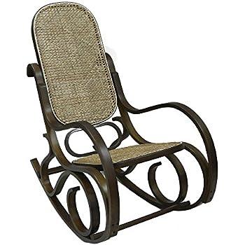 Home X Classic Bentwood Rocker. Bentwood Rocking Chair. (Dark Walnut)