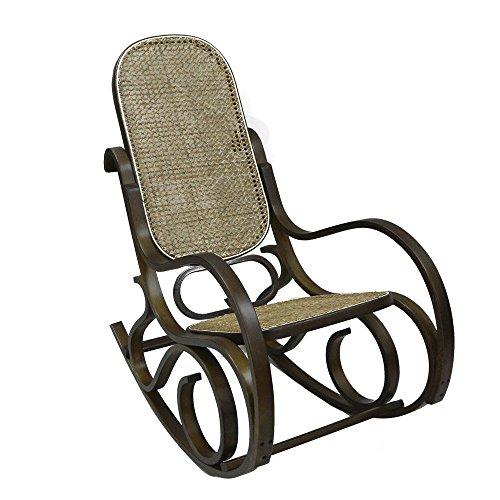 Home-X Classic Bentwood Rocker. Bentwood Rocking Chair. (Dark Walnut)