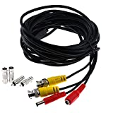 Product review for 5M(16Ft)BNC DC Extension Cable,Pre-made All-in-One Video Power Full-Copper Wire Cord Prefect for CCTV Surveillance DVR Camera Monitoring System,4PCS BNC Connector,Length More Choices-Black