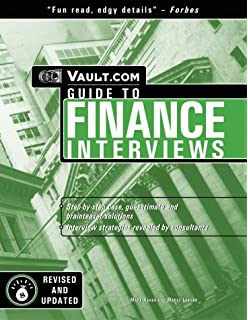 vault guide to finance interviews 5th edition