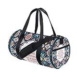 Gym Bag Africa Art Paisley Sports Travel Duffel Lightweight Canvas Bags