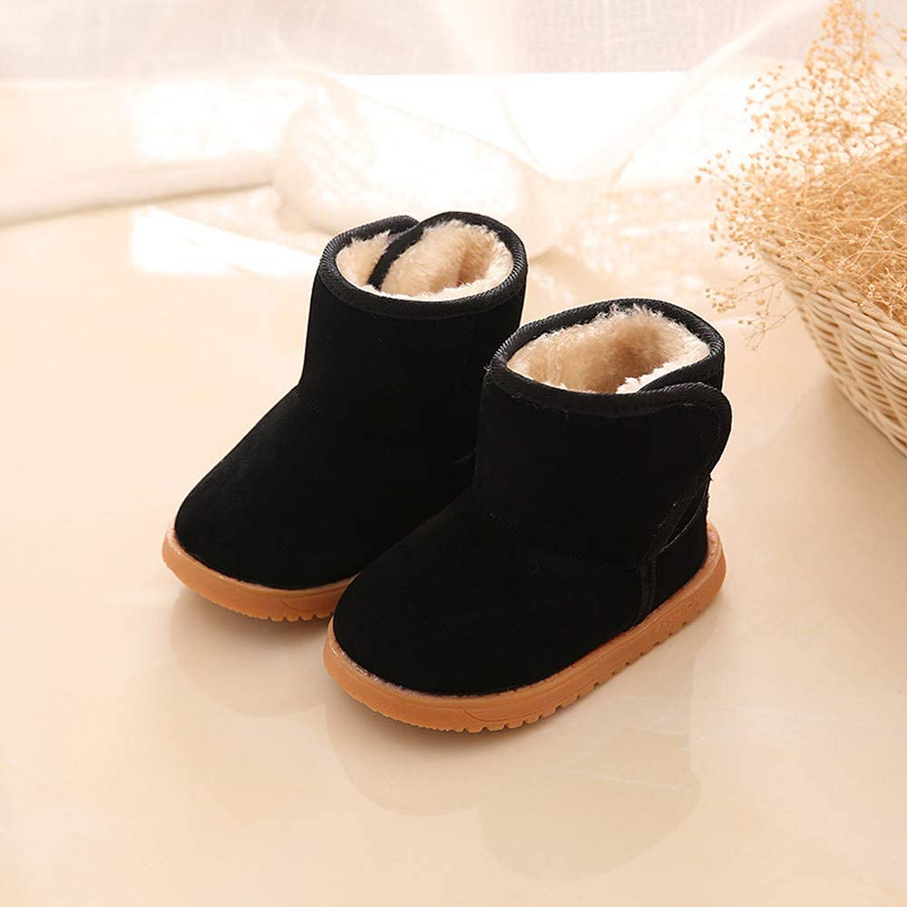 Toddler Snow Boots,Fashion Winter Warm Cotton Shoes Baby Boys Girls Anti-Slip Snow Boots