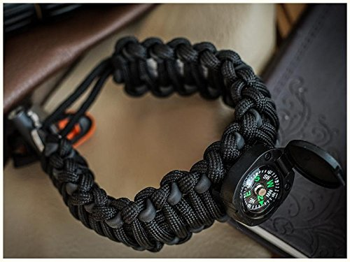 THE #1 BEST : Paracord Bracelet Emergency kit Survival Tool Emergency kit Upgraded Holtzman's by Holtzman's Gorilla Survival