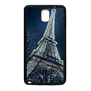 Happy Eiffel Tower Cell Phone Case for Samsung Galaxy Note3