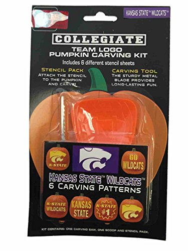 Kansas State Wildcats NCAA Topperscot Team Logo Halloween Pumpkin Carving Kit ()