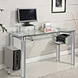 Innovex Saturn Computer Desk, Clear Review