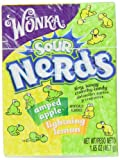 Wonka Nerds, Sour Lemon & Apple, 1.65 Ounce Boxes (Pack of 24)
