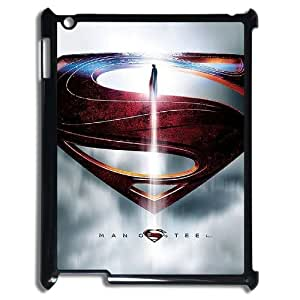 YUAHS(TM) Personalized 3D Hard Back Phone Case for Ipad 2,3,4 with Superman Man Of Steel Logo YAS951696