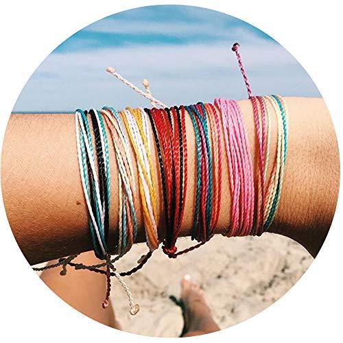 JOYAGIFT Women Adjustable String Bracelet Bohemian Braided Anklets Gifts for Girls (8PCS)