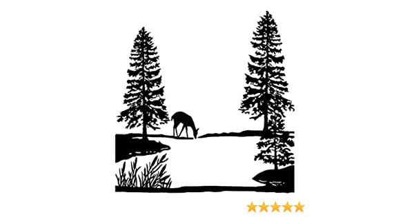 "Black Elk Mountain 4/"" Large Fused Glass Decal 15CC539"