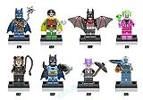 Shalleen 8 pcs Set TV Figures Lot Lot Toys Robin Penguin Catwoman Joker Mr. Freeze