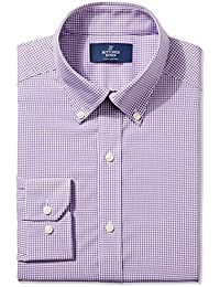 Men's Fitted Collar Pattern Non-Iron Dress Shirt