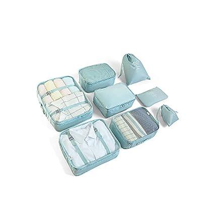 8pcs Bolsas De Almacenamiento De Viaje a Prueba De Agua Ropa Embalaje Cubo Organizador De Equipaje Bolsa, Embalaje de Viaje Bolsas de Ropa Zapatos, ...