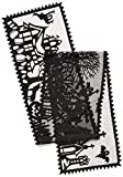 Heritage Lace Spooky Hollow 14-Inch by 72-Inch Runner, Black