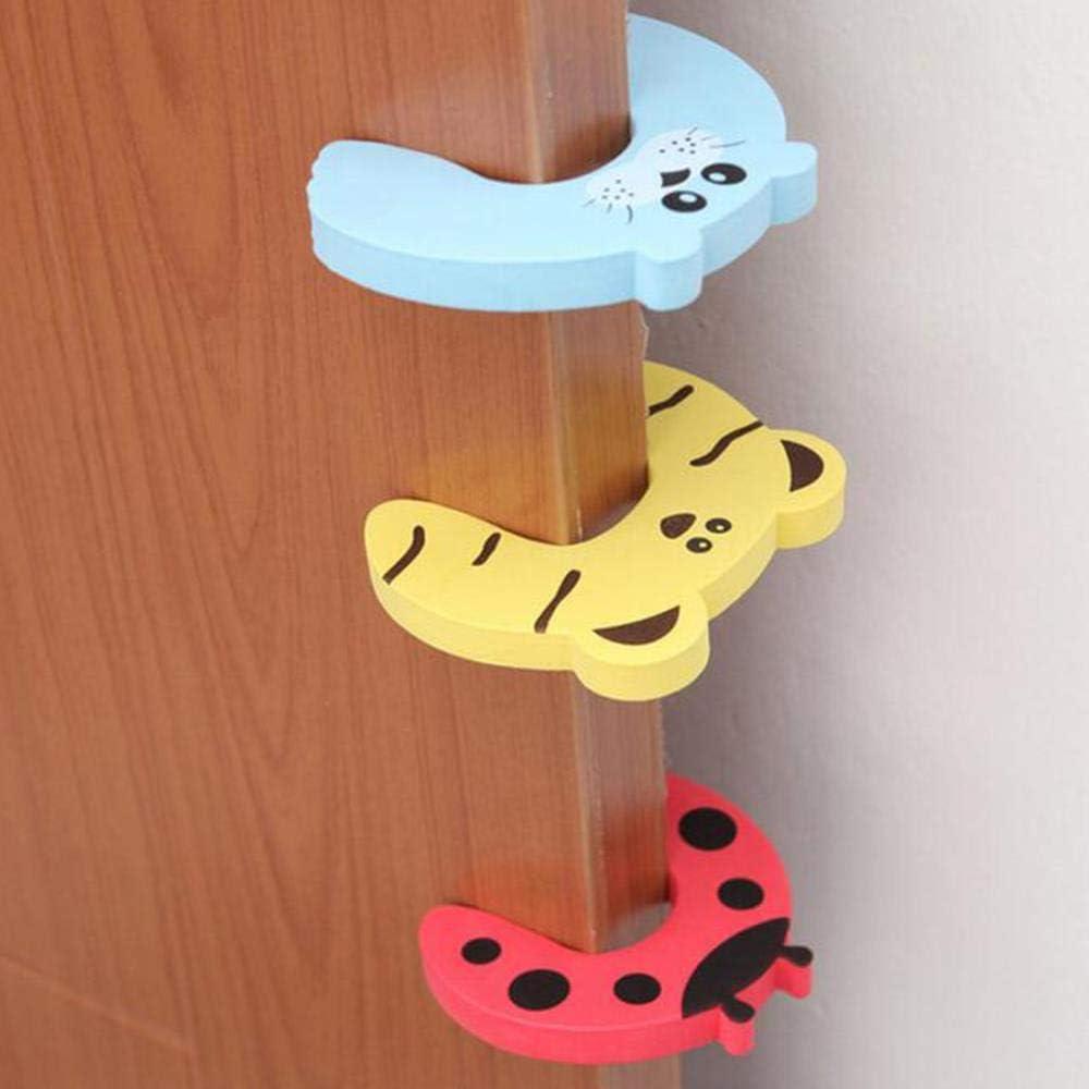Ningb 5 unids//Set Tope de Puerta para beb/é Dedo Protector Seguridad ni/ños Productos Seguridad Infantil Puerta Estilo Aleatorio