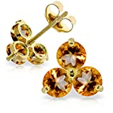ALARRI 1.5 Carat 14K Solid Gold Summer Is Sister Citrine Earrings