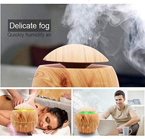 Pilzäusehalfer Öl-Diffusor, 7 farbig wechselnde LED-Leuchten/600ml/wasserlose automatische Schließfunktion/Schlafzimmerbüro (ABS + PP)