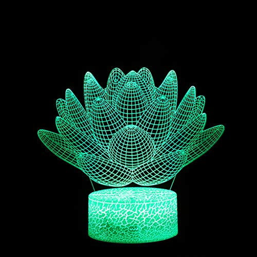 Iusun LED 3D Illuminated Lamp Optical Illusion Desk Night Light with 7 Color ChangingDecorations Glowing DIY Ornament Wedding Party Holiday Decor - Vision Cinema Screen Projection