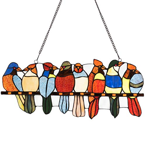 stained glass birds window panel - 3
