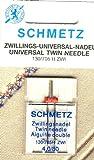 Schmetz Agujas de máquina de coser de doble Universal 130/705H-ZWI aguja espacio entre: 4,0mm, NM 80/12, 1pieza