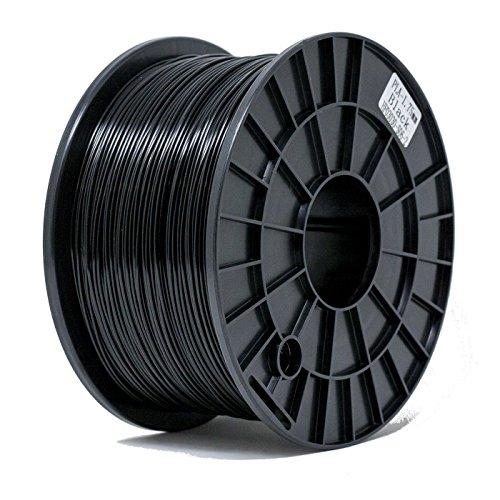 Kg Filament Spool 1 (ShaperBee 7201 PLA 3D Printing Filament 1.75 mm, 1 kg Spool for 3D Printers, Dimensional Accuracy +/-0.03 mm, PLA, black)