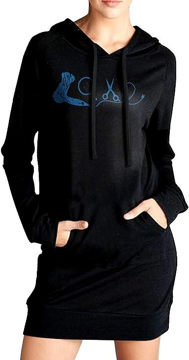 Hairdresser Womens Pullover Hoodie Long Sleeve Hooded Sweatshirts