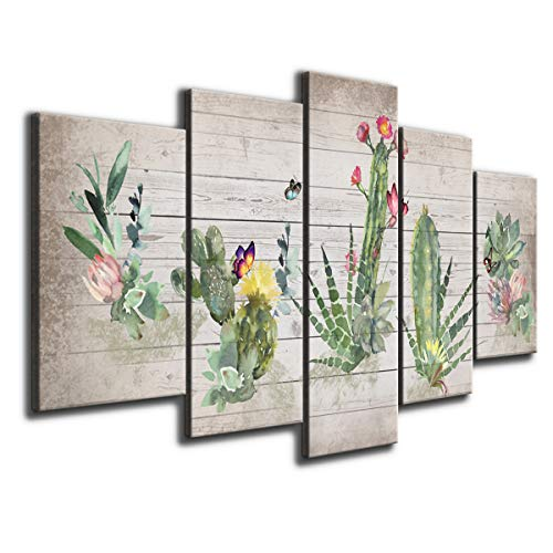 [해외]Large Succulent Canvas Wall Art Green Plants Print Painting / Large Succulent Canvas Wall Art Green Plants Print Painting