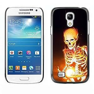 LECELL -- Funda protectora / Cubierta / Piel For Samsung Galaxy S4 Mini i9190 MINI VERSION! -- Fire Skeleton --