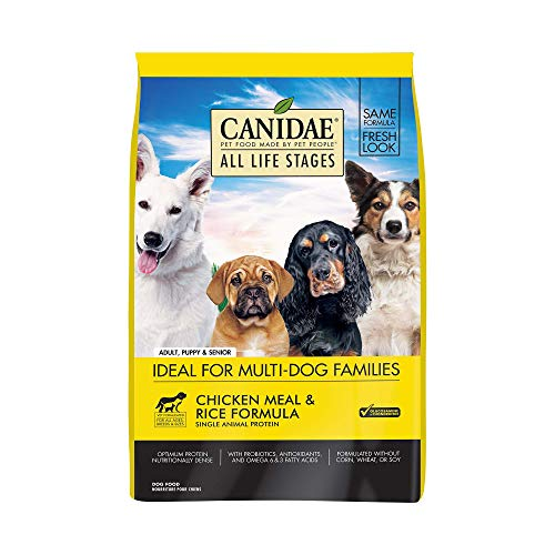 (CANIDAE All Life Stages Dog Dry Food Chicken Meal & Rice Formula 30lbs)