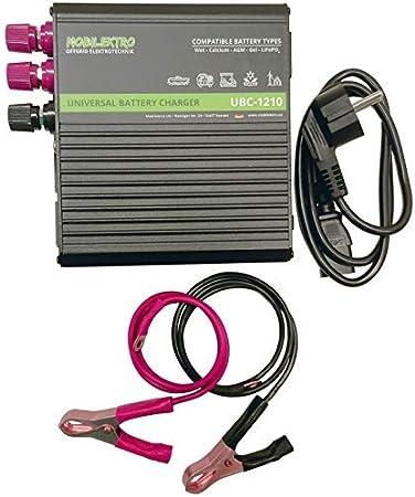 Mobilektro 10a 12v Universal Batterieladegerät Ubc 1210 Dual Ladegerät Für Lifepo4 Agm Gel Nass Batterien Auto