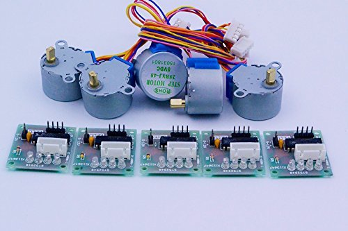 Coobl® 5sets Stepper Motor 28byj-48 5v Dc 4-phase 5-wire + Uln2003 Driver Board Oh Banana 4332088735
