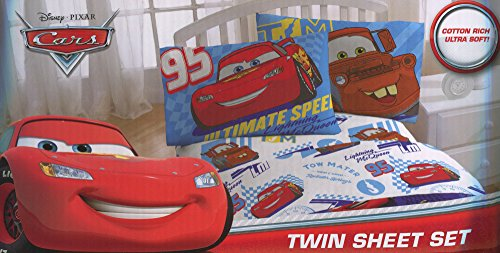 Disney / Pixar Cars Ultimate Speed Twin Size Sheets Set