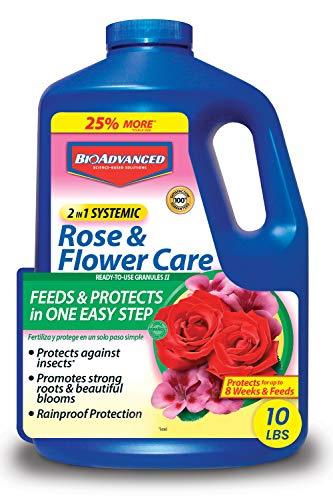 BioAdvanced 701210A 2 in 1 Rose & Flower Care 8-12-4 IMID Bonus 10lb, 10-Pound, Brown/A