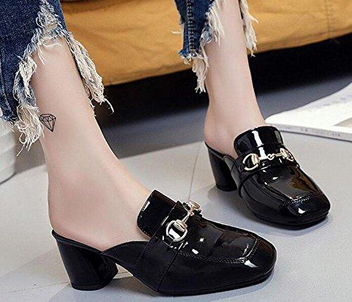 CN38 paresseux KUKI avec 5 5 et chaussures Pantoufles 1 UK5 dames US7 Baotou EU38 cool pantoufles qZSXUq
