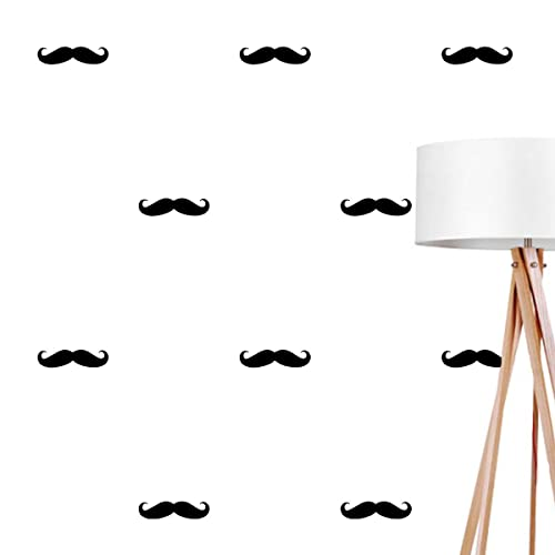 Mustache Wall Decals Wall Stickers Mustache Wall Stickers Mustache Pattern Vinyl Decal  sc 1 th 225 & Amazon.com: Mustache Wall Decals Wall Stickers Mustache Wall ...