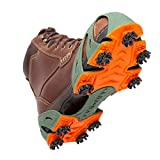 STABILicers Turfgrabber Traction Cleat for Hilly, Wet, Uneven Terrain, Fits Over Shoes/Boots for Landscaping, Groundskeepers, Park Maintenance Crews, Small (7-8 Men / 8-9.5 Women), Green/Orange