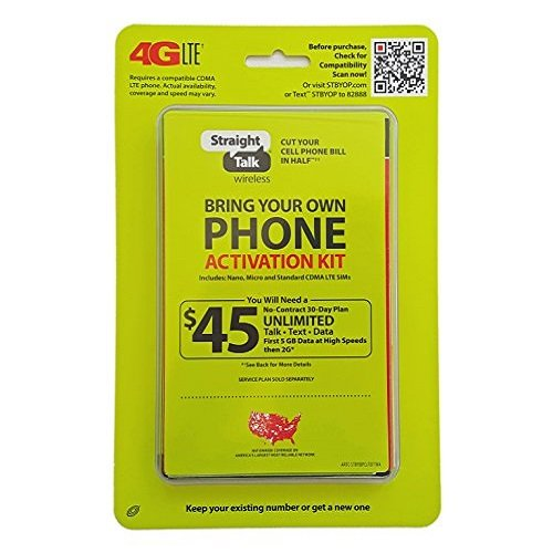 Straight Talk Verizon 4G LTE 3G CDMA Bring Your Own Phone