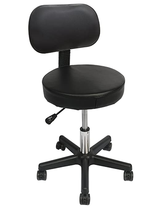 Wahson's Adjustable Rolling Stool with Backrest