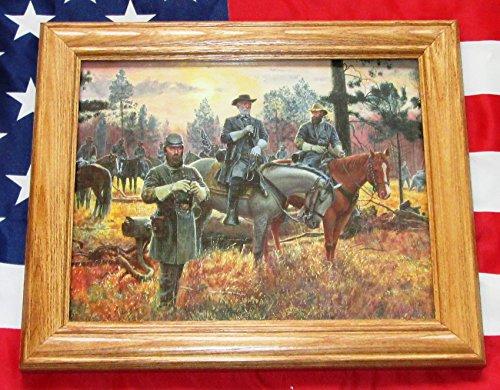 Civil War Painting. Mort Kunstler, CONFEDERATE SUNSET. Lee, Jackson, Longstreet - Paintings Civil War