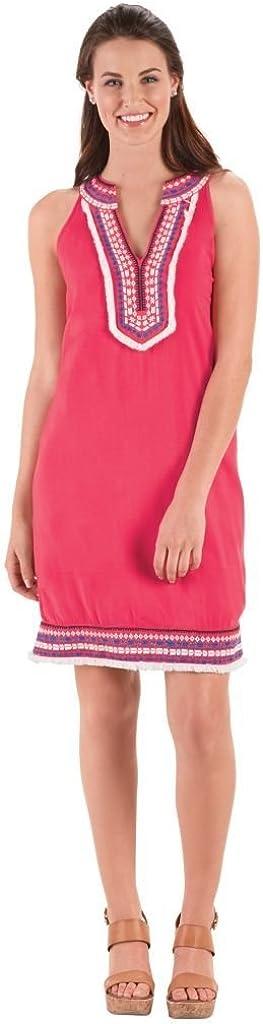 Large, Watermelon Mud Pie Womens James Collared Dress