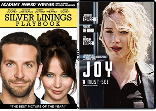 Joy + Silver Linings Playbook 2 Pack Drama Movie Jennifer Lawrence / Bradley Cooper & Robert DeNiro Double Feature