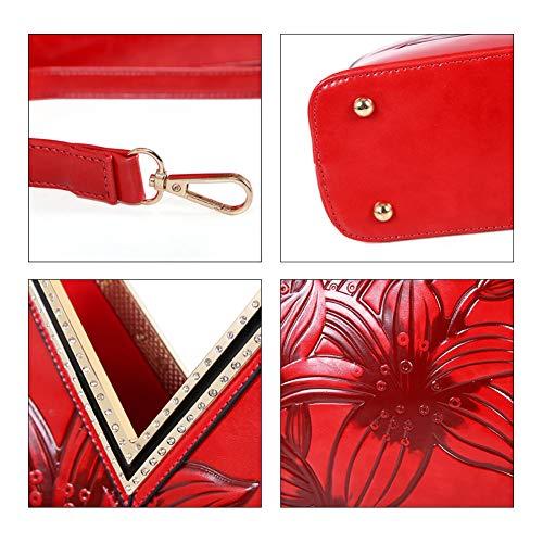 Tracolla Donna Adatto Bag Lo Lavoro Per A Borsa Incontri Rosso In Shopping Stile Da Tridimensionale Cinese Messenger Borsa YJIUJIU q67xtPwYt