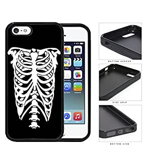 Halloween Torso Skeletal X-Ray Rubber Silicone TPU Cell Phone Case Apple iPhone 5 5s