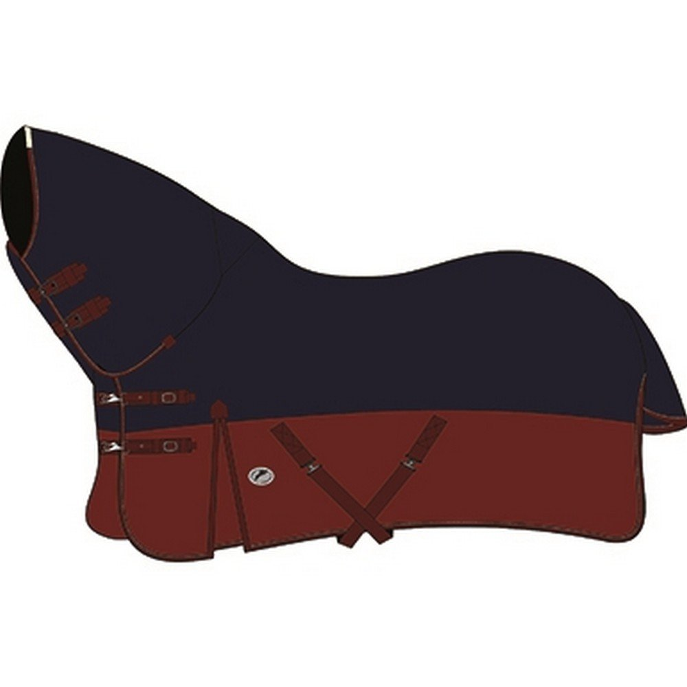 Navy Burgundy 6 ft 3 Navy Burgundy 6 ft 3 JHL Combo Medium Weight Turnout Rug