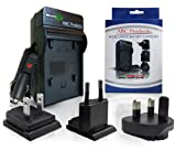 ABC Products® Battery Charger for Canon NB-4L / NB4L / CB-2LVE suits Select IXUS and Powershot Digital Camera (Models Stated Below) World Travel Plug Version - USA/Europe/UK +