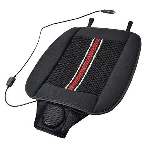 (BDK SC-04X Cooling Seat Cushion Mesh Adjustable Temperature Built-in Fan with Maximum Airflow)