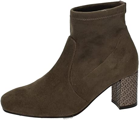 MADE IN SPAIN 2297 BOTÍN Suave TACÓN Mujer Botines Taupe 38 ...