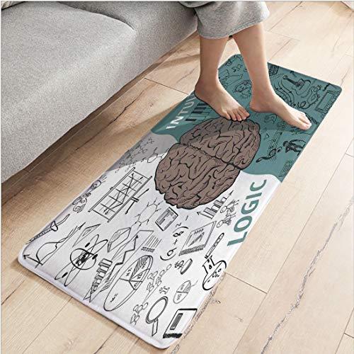 Flannel Bedroom Water Uptake Indoor Modern Anti-Skid Carpet,